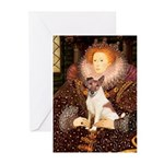 Queen/Fox Terrier (#S4) Greeting Cards (Pk of 10)