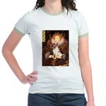 Queen/Fox Terrier (#S4) Jr. Ringer T-Shirt