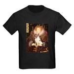 Queen/Fox Terrier (#S4) Kids Dark T-Shirt