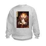 Queen/Fox Terrier (#S4) Kids Sweatshirt