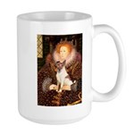 Queen/Fox Terrier (#S4) Large Mug