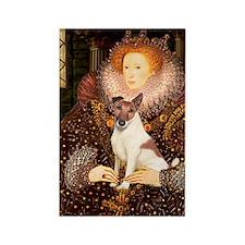 Queen/Fox Terrier (#S4) Rectangle Magnet