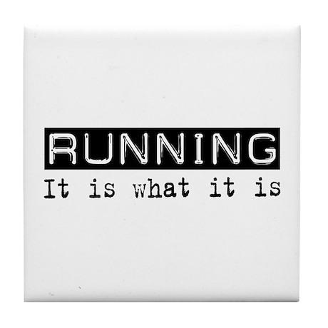 Running Is Tile Coaster