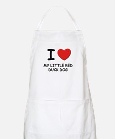 I love MY LITTLE RED DUCK DOG BBQ Apron