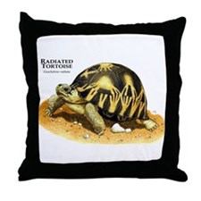Radiated Tortoise Throw Pillow