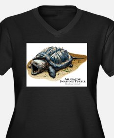 Alligator Snapping Turtle Women's Plus Size V-Neck