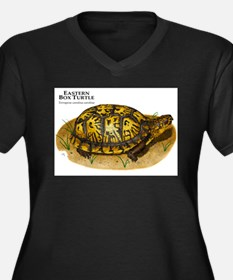 Eastern Box Turtle Women's Plus Size V-Neck Dark T