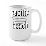 367. pacific beach Large Mug