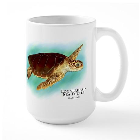 Loggerhead Sea Turtle Large Mug