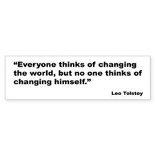 Tolstoy Change Quote Bumper Bumper Sticker