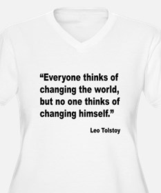 Tolstoy Change Quote T-Shirt