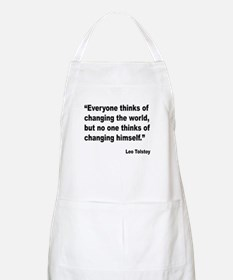 Tolstoy Change Quote BBQ Apron