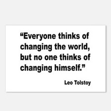 Tolstoy Change Quote Postcards (Package of 8)