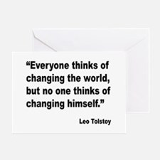 Tolstoy Change Quote Greeting Card
