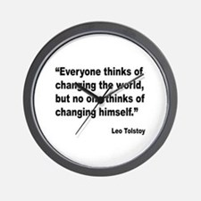 Tolstoy Change Quote Wall Clock