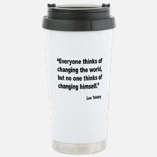 Tolstoy Change Quote Travel Mug