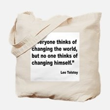Tolstoy Change Quote Tote Bag