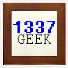 1337 Geek Framed Tile
