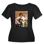 Cleopatra-Sammy/Libby Women's Plus Size Scoop Neck