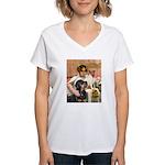 Cleopatra-Sammy/Libby Women's V-Neck T-Shirt