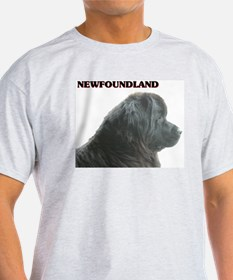 Ash Grey Newfie Breed T-Shirt