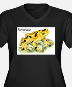 Panamanian Golden Frog Women's Plus Size V-Neck Da