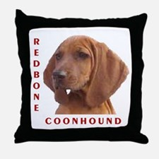 Redbones Throw Pillow