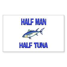 Half Man Half Tuna Rectangle Decal