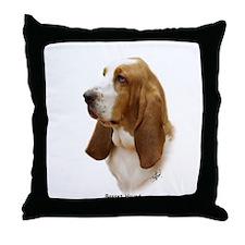 Basset Hound 9J055D-15 Throw Pillow