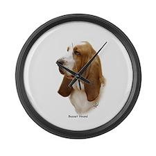 Basset Hound 9J055D-15 Large Wall Clock