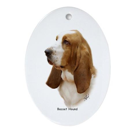 Basset Hound 9J055D-15 Ornament (Oval)