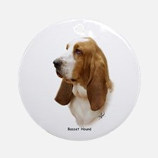 Basset Hound 9J055D-15 Ornament (Round)