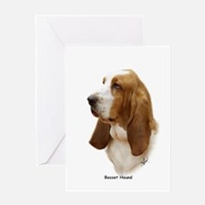 Basset Hound 9J055D-15 Greeting Card