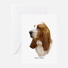 Basset Hound 9J055D-15 Greeting Cards (Pk of 10)
