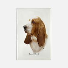 Basset Hound 9J055D-15 Rectangle Magnet (100 pack)