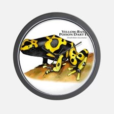 Yellow-Banded Poison Dart Fro Wall Clock