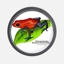 Strawberry Poison Dart Frog Wall Clock