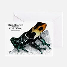 Red-Headed Poison Dart Frog Greeting Card