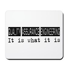 Quality Assurance Engineering Is Mousepad