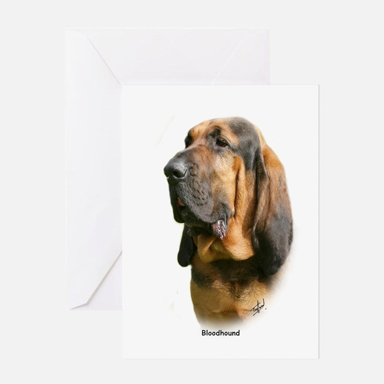 Bloodhound 9Y404D-135 Greeting Card