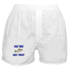Half Man Half Trout Boxer Shorts