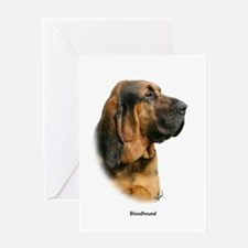 Bloodhound 9Y404D-124 Greeting Card