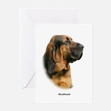Bloodhound 9Y404D-124 Greeting Cards (Pk of 20)