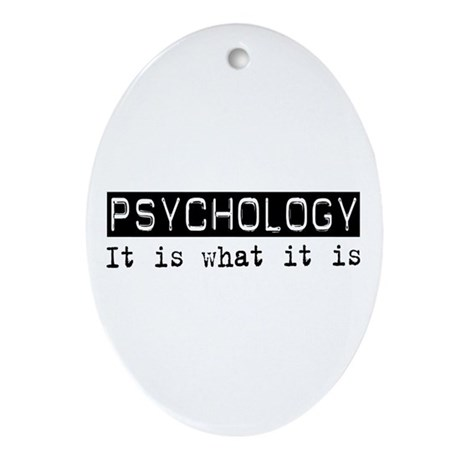 Psychology Is Oval Ornament