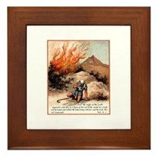 Moses Burning Bush Framed Tile
