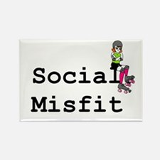 Social Misfit Rectangle Magnet