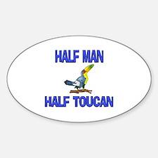 Half Man Half Toucan Oval Decal