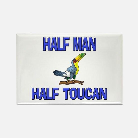 Half Man Half Toucan Rectangle Magnet