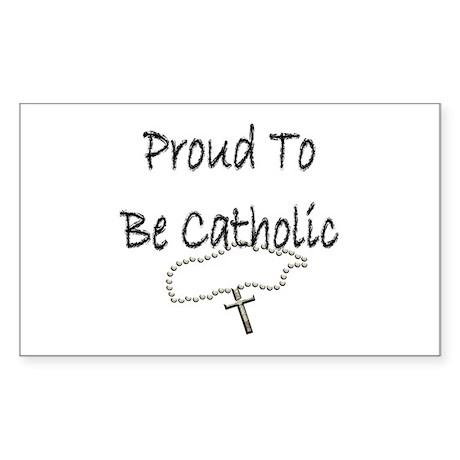 Proud to be Catholic Rectangle Sticker