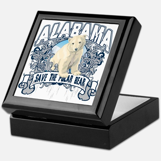 Polar Bear Alabama Keepsake Box